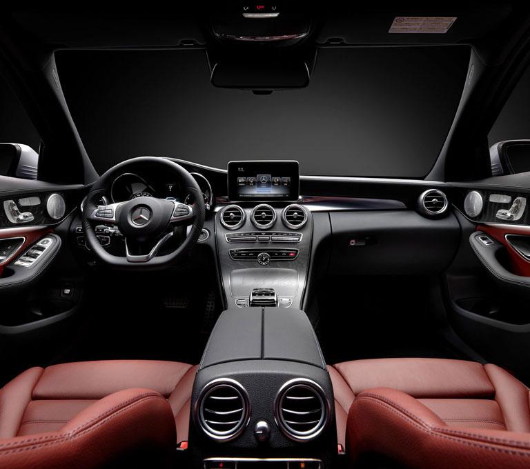 2015 mercedes benz c class lighter more powerful for Mercedes benz c class 2015 interior
