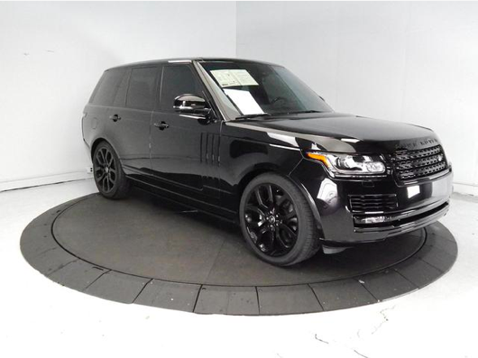 2013 Black on Black Range Rover HSE