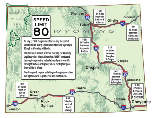 Wyoming Speed Limit Map Need Speed? States Where You Can Drive 80 MPH