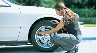 Checking tire pressure- AAA