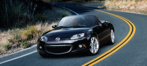 2015 Mazda MX-5 Miata on road