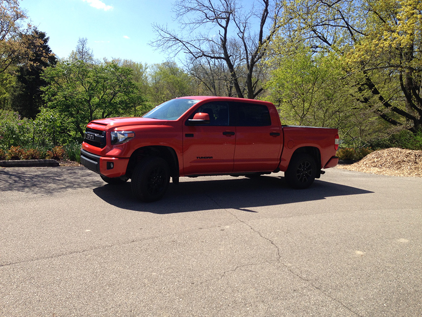 The Toyota Tundra in our favorite trim the TRD Pro