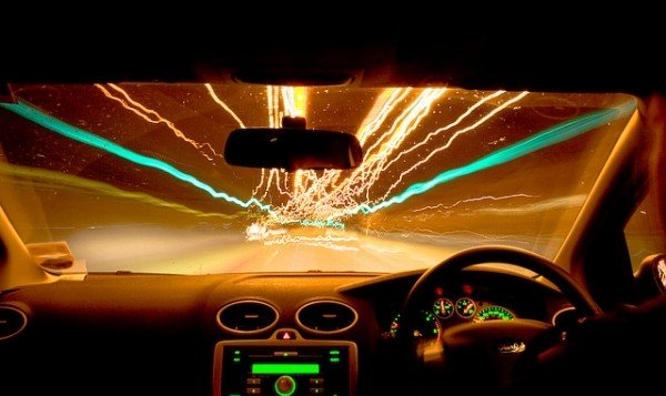 Music in car while driving