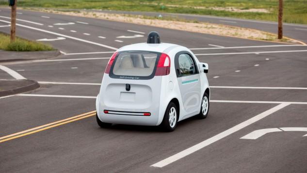 Google Self-Driving car on the street