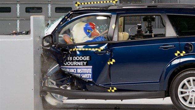 2015 Dodge Journey_IIHS small overlap frontal test