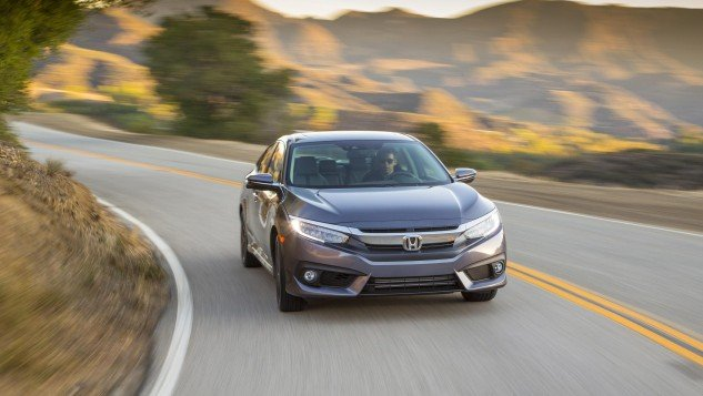 2016 Honda Civic sedan-road