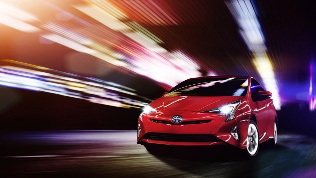 2016 Toyota Prius-red