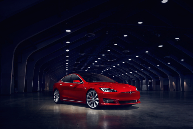 2016 Tesla Model S-red-tunnel