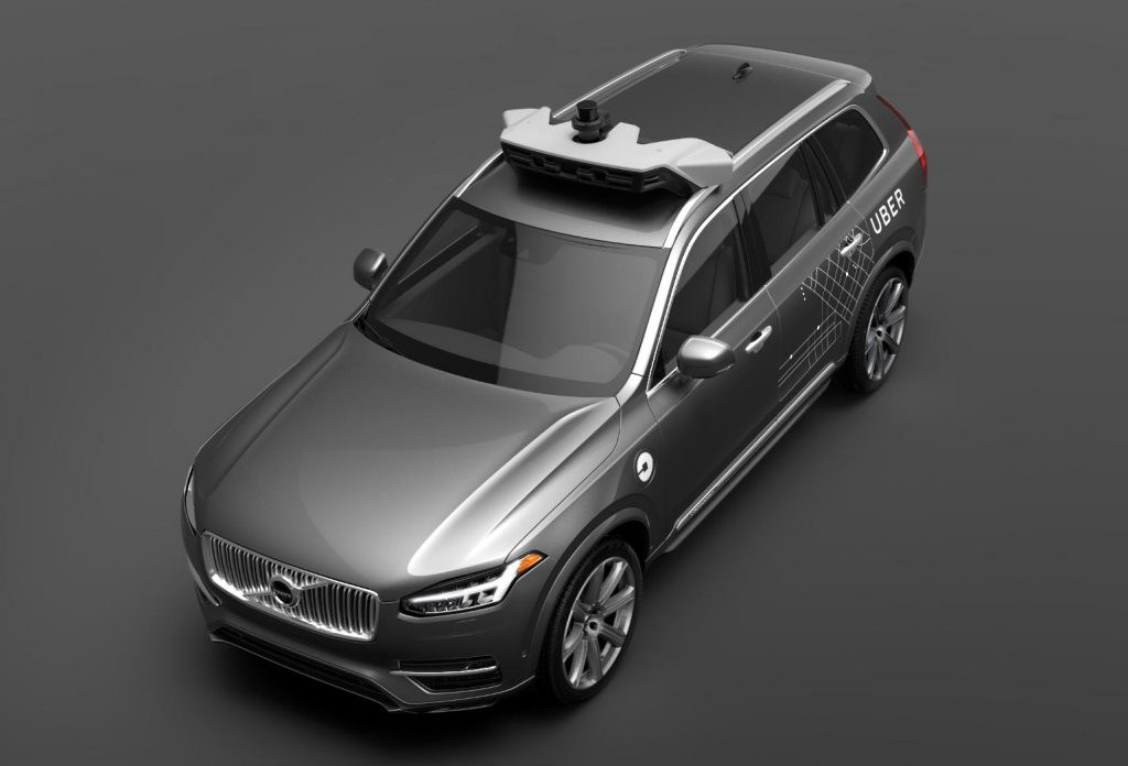 Uber Specially-Modified Self-Driving Volvo XC90-Photo: Volvo