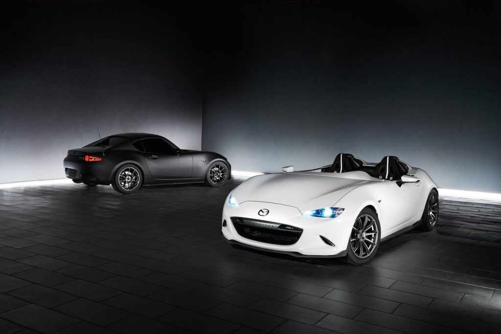 Mazda MX-5 Miata RF Kuro and MX-5 Speedster Concepts Debut in Sin City (PRNewsFoto/Mazda North American Operations)