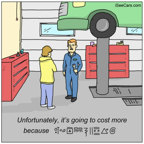 Getting charged more at the car mechanic funny auto comics