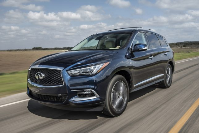 The 2017 INFINITI QX60, a core model in the company's lineup, continues to blend luxury and function with an uncanny grace. This 7-passenger INFINITI continues to be offered with front-wheel drive or with INFINITI's Intelligent All-Wheel Drive.
