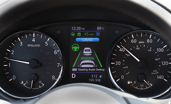 Nissan's ProPILOT Assist technology, continuing to pave the way for future fully autonomous vehicles, will be available on the company's bestseller, the Rogue compact SUV. ProPILOT Assist reduces the hassle of stop-and-go driving by helping control acceleration, braking and steering during single-lane highway driving.