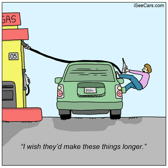 Which side is your gas pump on filling up tank funny comic
