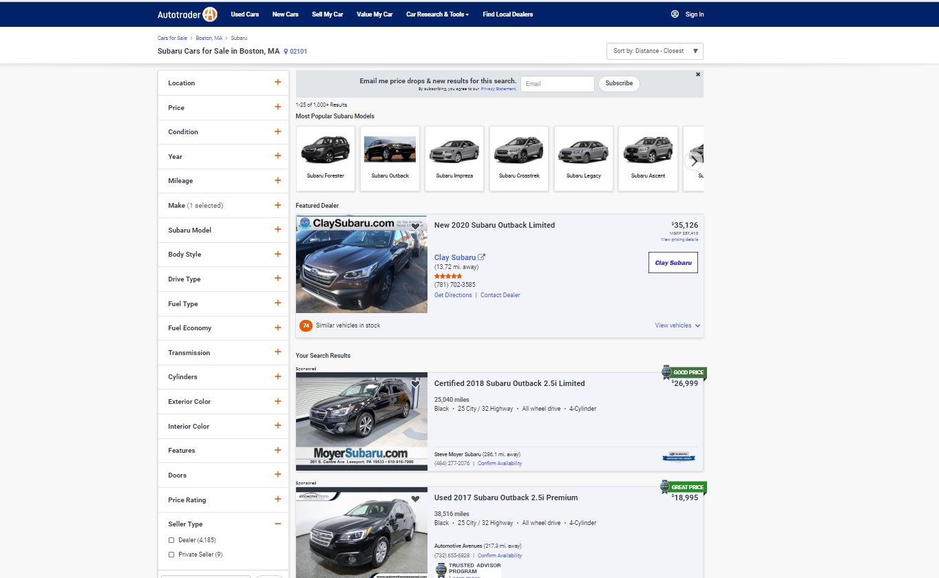 10 Best Used Car Websites Iseecars Com